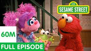 sesame street sofa elmo teaches abby to pretend full episode youtube