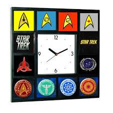 amazon com star trek starfleet academy symbols emblems clock 12