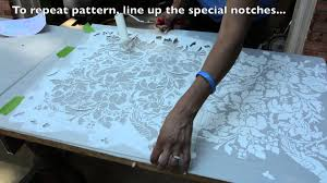 Kitchen Stencils Designs by How To Stencil On Furniture Diy Tutorial Thrift Diving Youtube