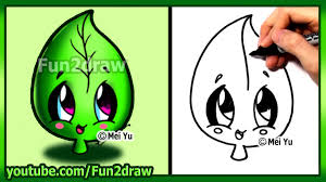 how to draw cute easy leaf earth day fun2draw youtube