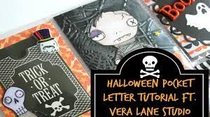 halloween pocket letter tutorial start to finish ft vera lane