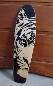 grip designs skateboard tiger griptape longboard