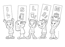 moslem kids coloring pages printable bull gallery