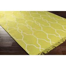Green Modern Rug Lattice Lime Green Indoor Outdoor Flat Weave Rugs
