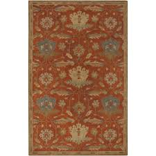 Rust Shag Rug Nourison Fantasia Rust 8 Ft X 11 Ft Area Rug 381828 The Home Depot