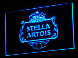 light up beer signs stella artios light up beer sign bar led neon signs light signs cave