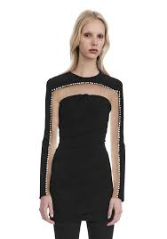 Draped Black Dress Alexander Wang Dresses For Women Official Site