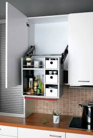 Overhead Kitchen Cabinets Pull Down Shelves In An Overhead Cabinet Are Capable Of Holding