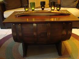 Barrel Side Table Glass How To Make A Whiskey Barrel Coffee Table Wine Plans