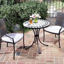 Outdoor Bistro Table Home Styles Marble Mosaic Bistro Set Hayneedle