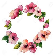 hand painted watercolor wreath flower decoration floral design