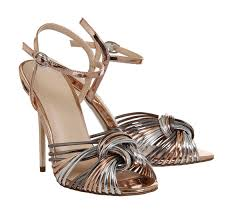 office notice me strappy heels multi metallic high heels