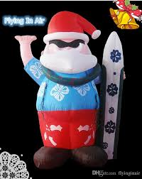 Inflatable Christmas Decorations Outdoor Cheap - multi size surfing inflatable santa claus for outdoor indoor