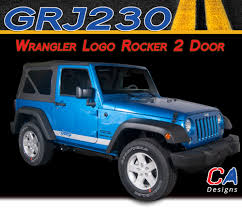 jeep wrangler logo 2007 2015 jeep wrangler logo rocker two door vinyl graphic stripe