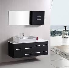 Grey Wall Bathroom Nice Grey Wall Bathroom Black Vanity White Marble Modern With