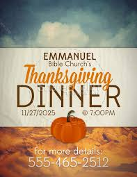 thanksgiving dinner religious flyer template flyer templates