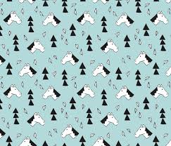sweet geometric horses cute animal drawing with triangles and