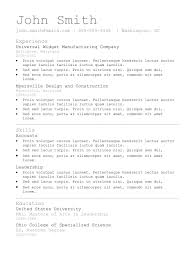 Scannable Resume Example by 7 Simple Resume Templates Free Download Best Professional Resume