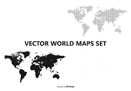 World Map Simple Vector by Simple World Map Black And White Globe Free Vector Art Downloads
