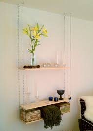 Hanging Pictures Ideas by Furniture Creative Hanging Shelves From Ceiling For Apt Elegance