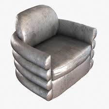 Nico Swivel Chair Milo Baughman Tilt And Swivel Chair In Platinum Velvet With Bras