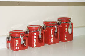 red canister sets for kitchen home design ideas and inspiration