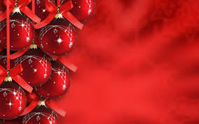 merry christmas new year tree red gold balls decoration ornaments