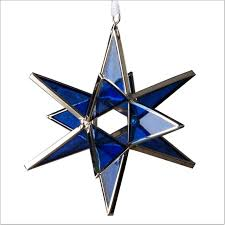 moravian glass ornament decoration handcrafted nazareth