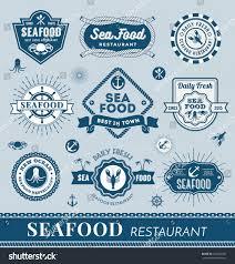 set seafood restaurant logo banner design stock vector 316260920