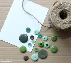 easy diy christmas card with old buttons a holiday tutorial