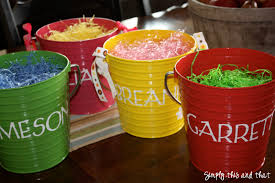 easter pails simply this and that easy easter baskets
