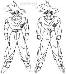 draw goku step step pictures cool2bkids