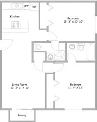 cheap 2 bedroom apartments with utilities included flat plan