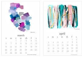 Printable Art Calendar 2015 | 2016 free printable calendar artist collaboration project