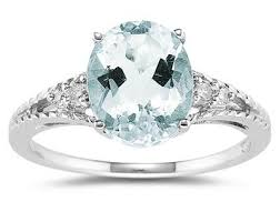 aquamarine and diamond ring 1 75 carat oval cut aquamarine diamond ring in 14k white gold