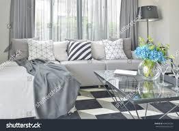 L Shaped Sofa Sets Light Gray L Shape Sofa Set Stock Photo 424929220 Shutterstock