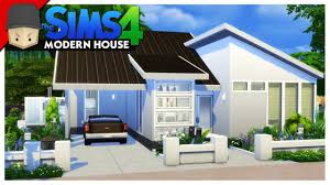 modern house building small modern house the sims 4 house building youtube