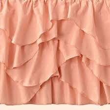 pink royal hippo crib skirt the land of nod