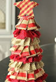 Christmas Centerpieces To Make Cheap by A Quick Cheap Rustic Burlap Christmas Tree Hometalk