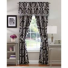 Black And Gold Damask Curtains by Better Homes And Gardens Brocade Jacquard 5 Piece Curtain Panel