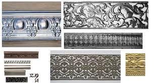 Decorative metal trim molding style & options