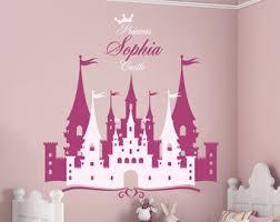 tickers chambre fille princesse mur de château de princesse autocollant disney stickers conte