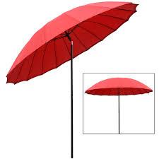 garden parasol 2 5m tilting parasol red pink green taupe black