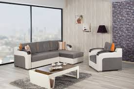 Sectional Sofas Fabric Divan Deluxe Sectional Sofa In Gray Fabric By Casamode