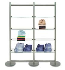 4 Tier Shelving Unit by Double Bay 4 Tier Shelving Unit Wall Display Fixture Custom Retail