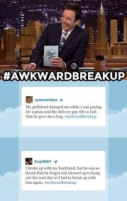 wedding quotes hashtags tonight show starring jimmy fallon hashtags awkwardbreakup http