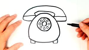 how to draw a telephone for kids telephone drawing lesson step
