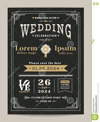 Vintage Wedding Invitation Cards Vintage Wedding Invitation Card With Black And Gold Color Stock