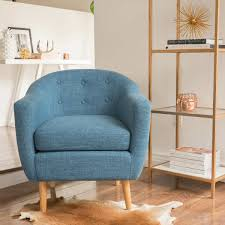 Blue Accent Chairs For Living Room by Fallon Fabric Accent Chair Blue