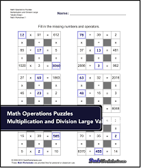number grid puzzles math puzzle worksheets that require students